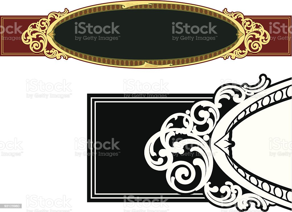 Vectorized Scroll/ Panel royalty-free stock vector art