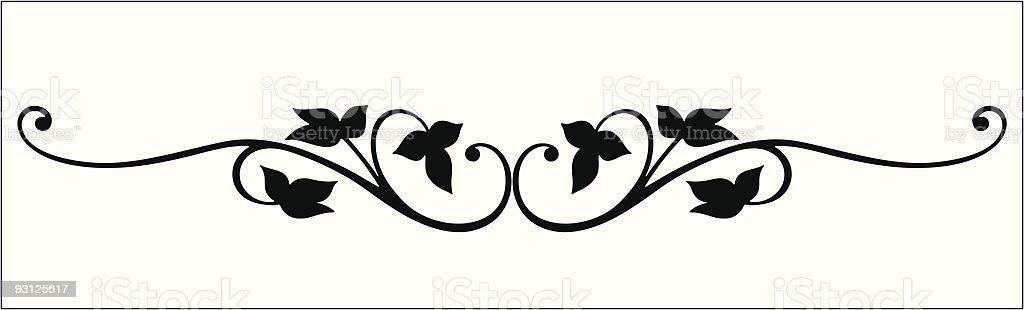 Vectorized Vine Scroll vector art illustration