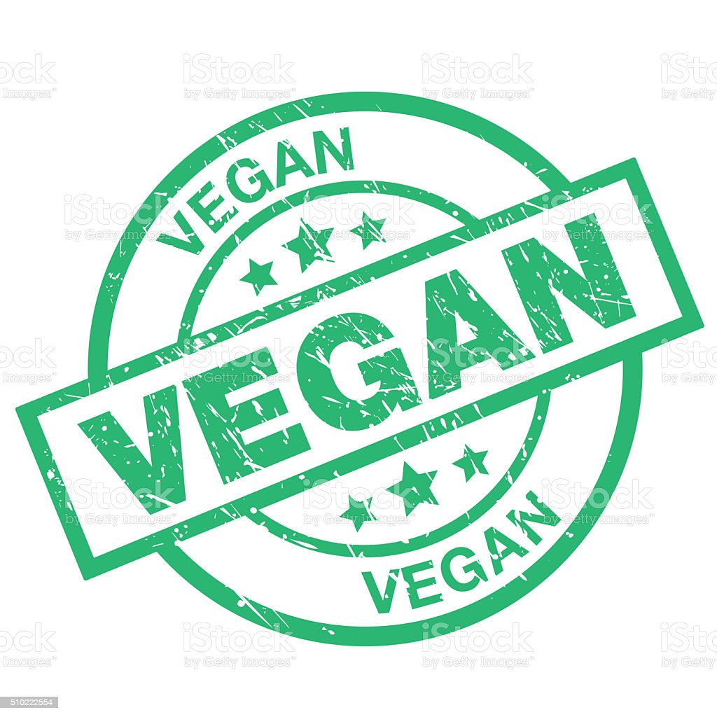 Vegan vector art illustration