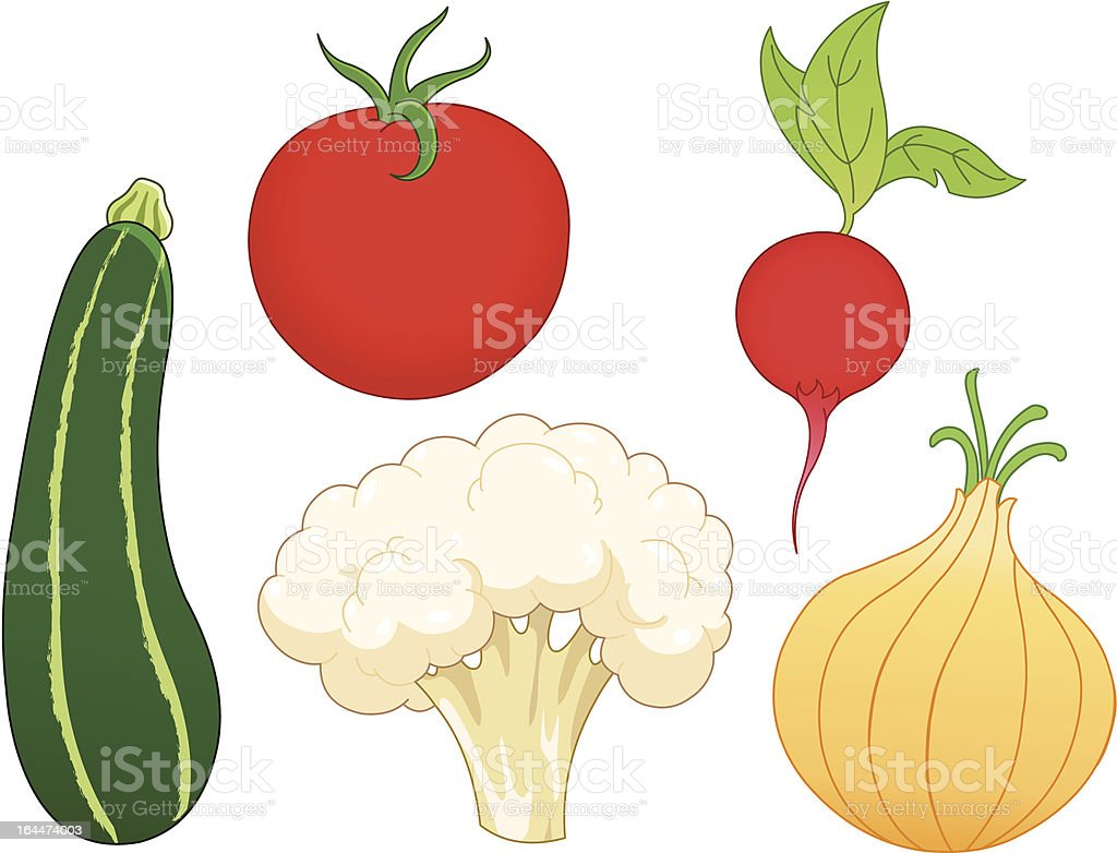 Vegetable set vector art illustration
