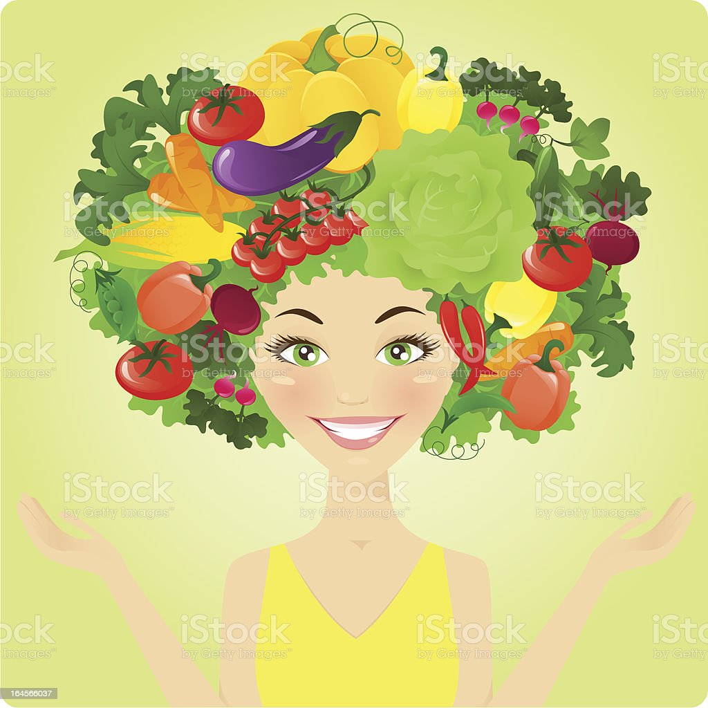 Vegetable woman royalty-free stock vector art