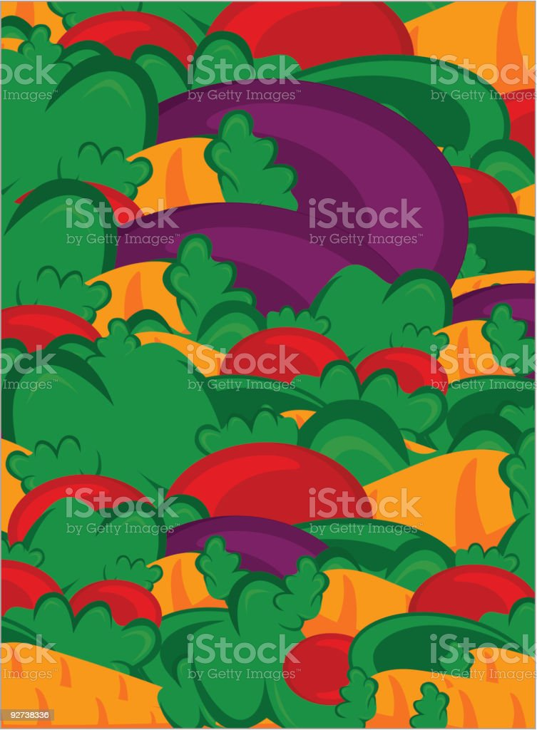 vegetables vector background royalty-free stock vector art