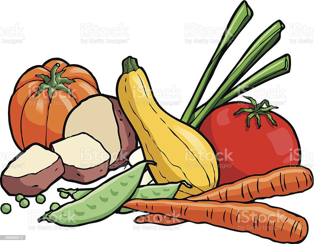 Vegetables01 vector art illustration