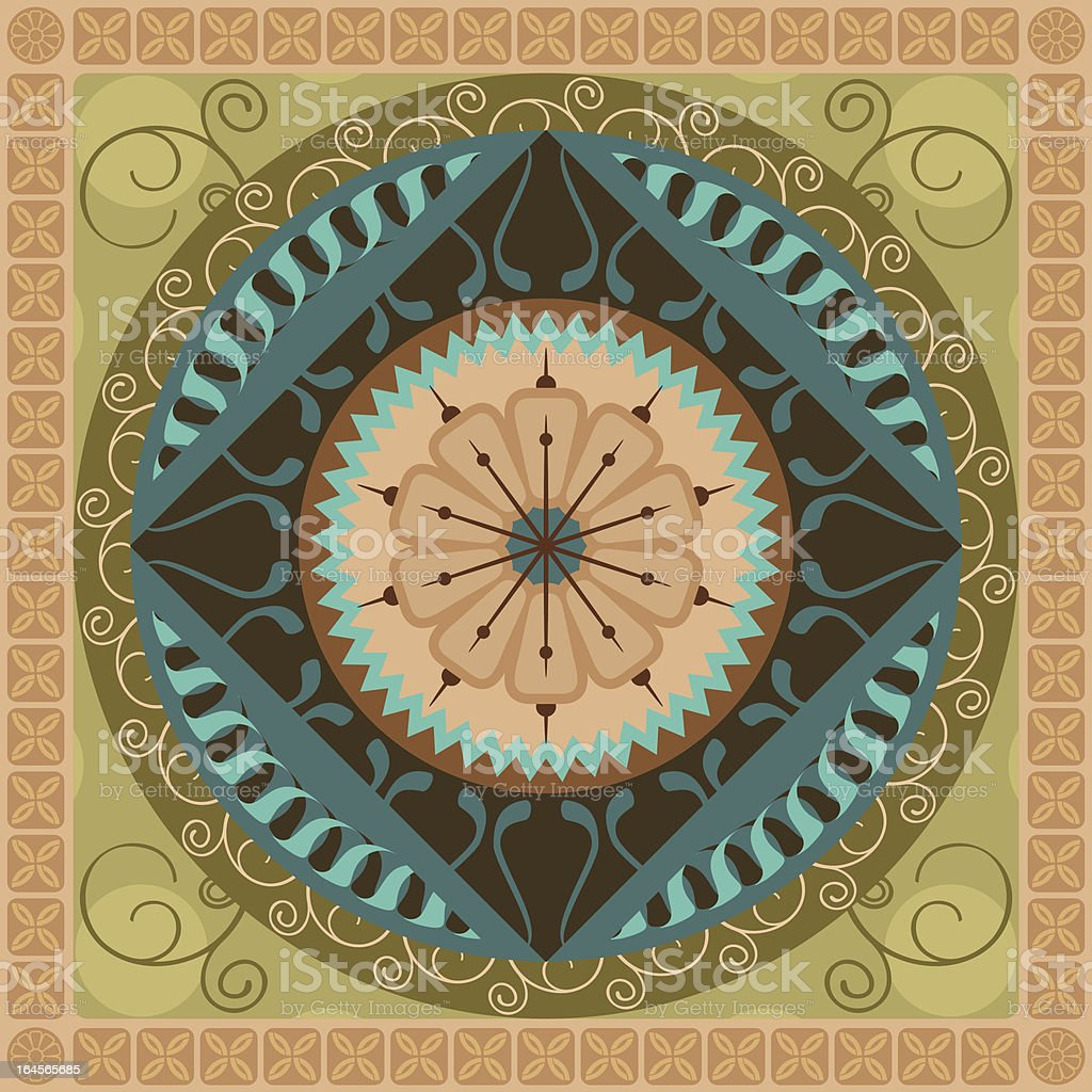 Vegetal Mandala royalty-free stock vector art