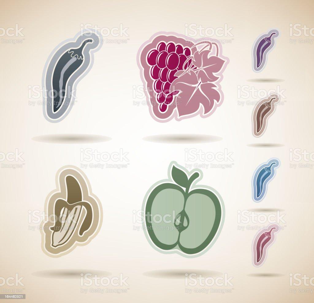 Vegetarian food vector art illustration