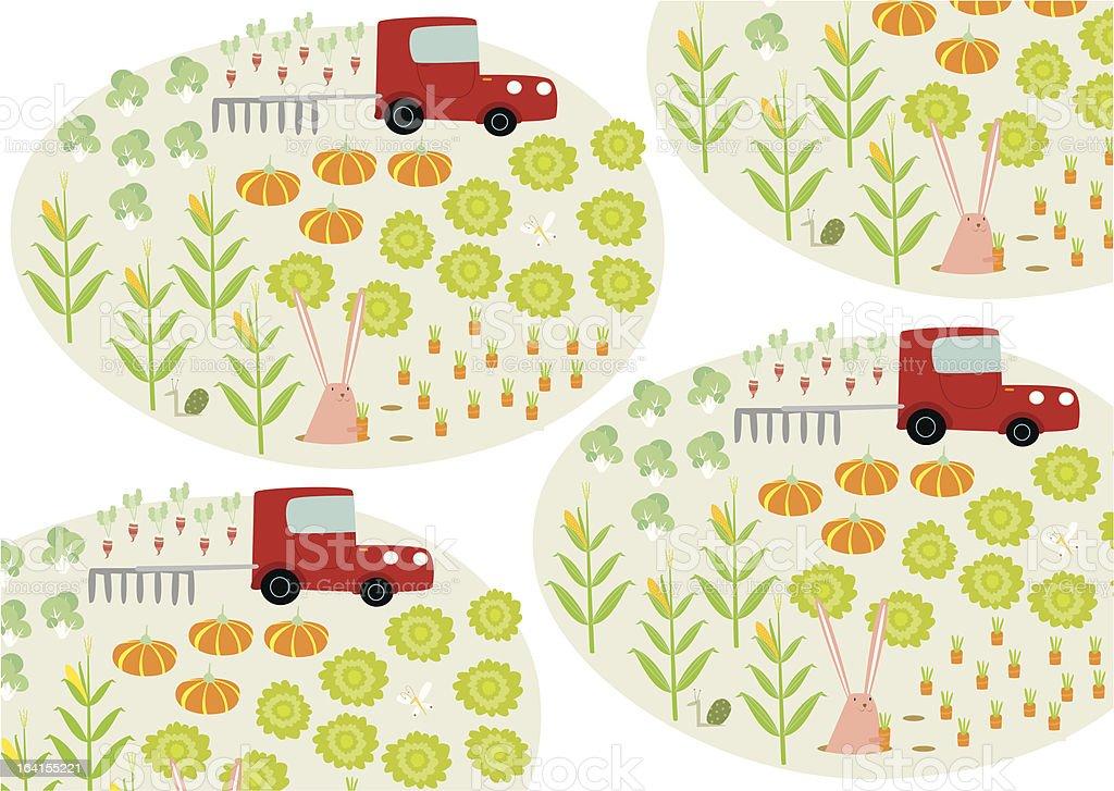 veggie farm pattern royalty-free stock vector art