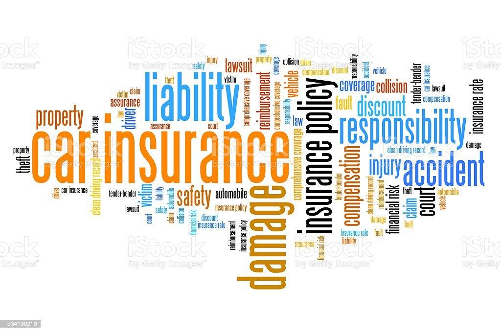 Vehicle insurance vector art illustration