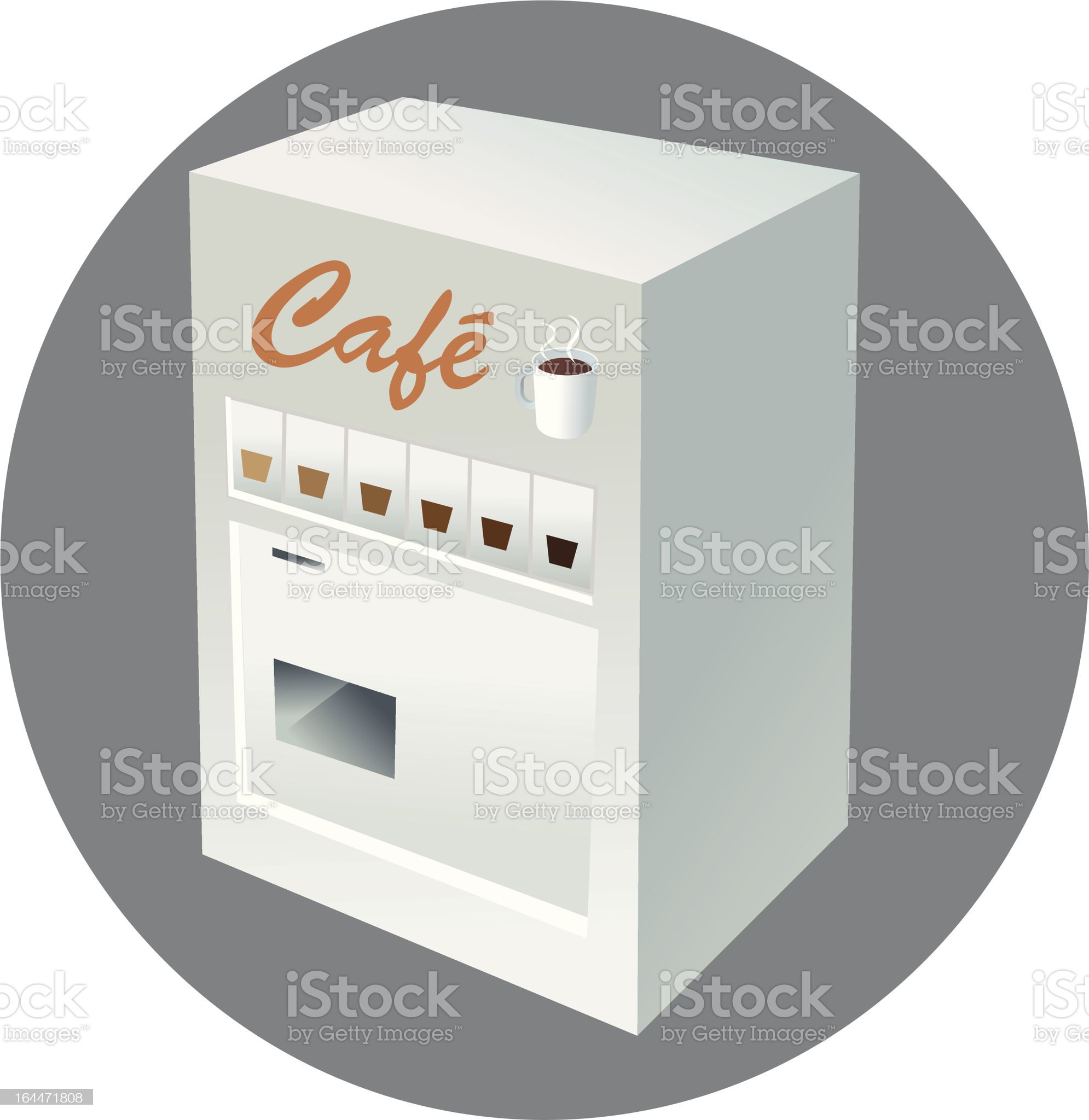vending machine coffee royalty-free stock vector art