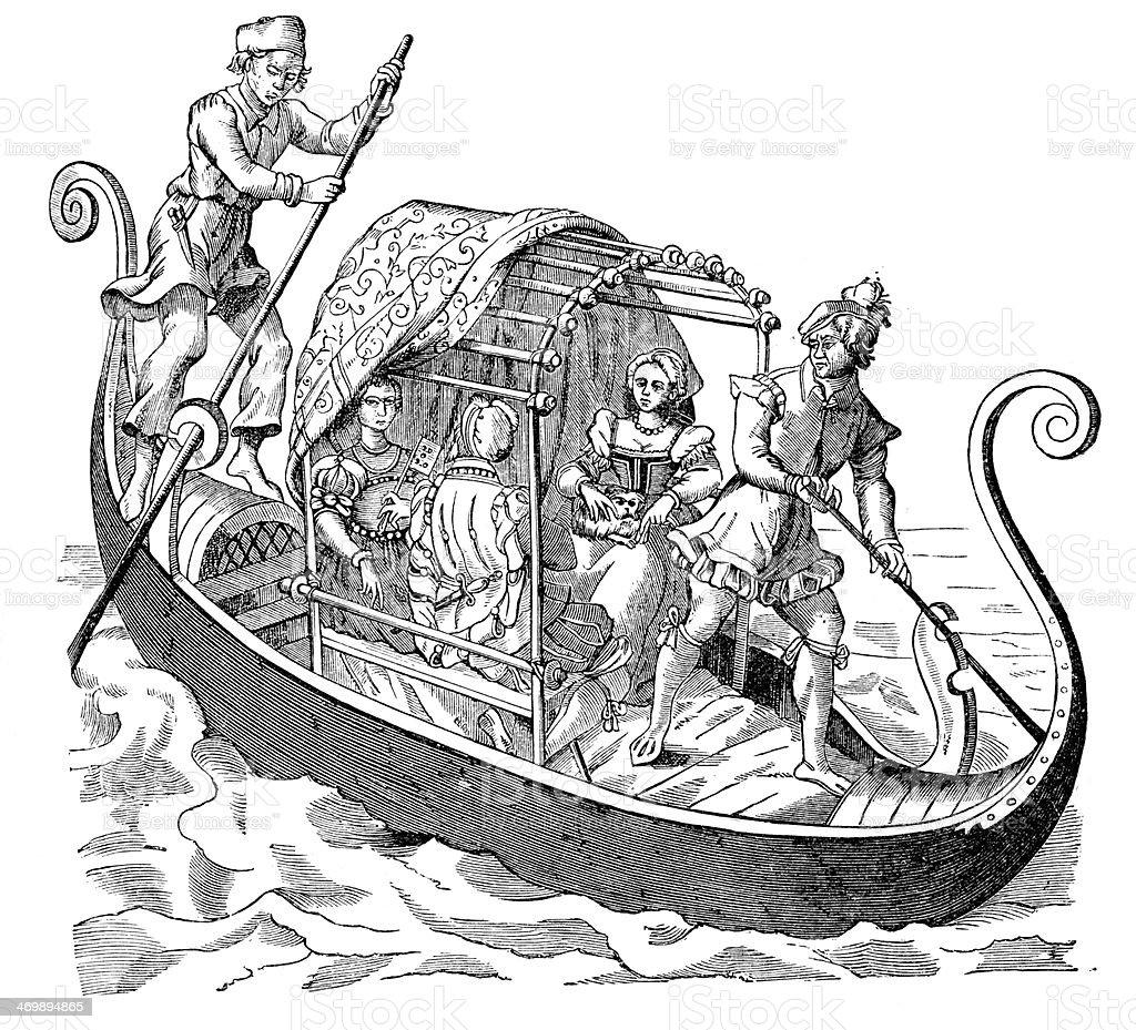 Venetian Gondola royalty-free stock vector art