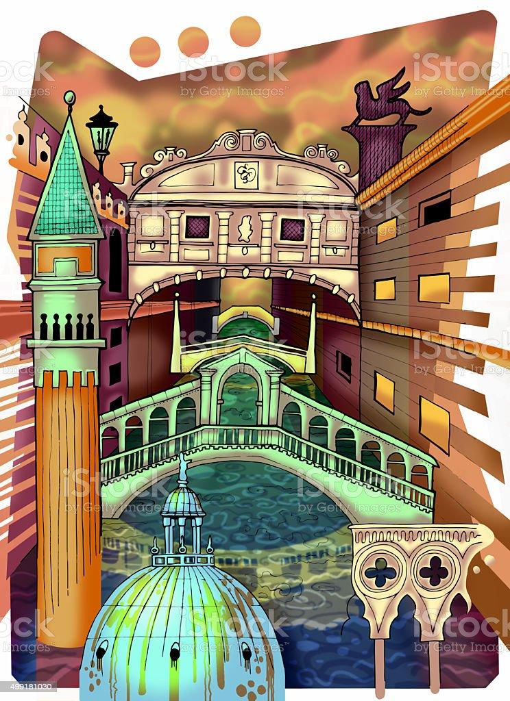 Venice Illustration vector art illustration