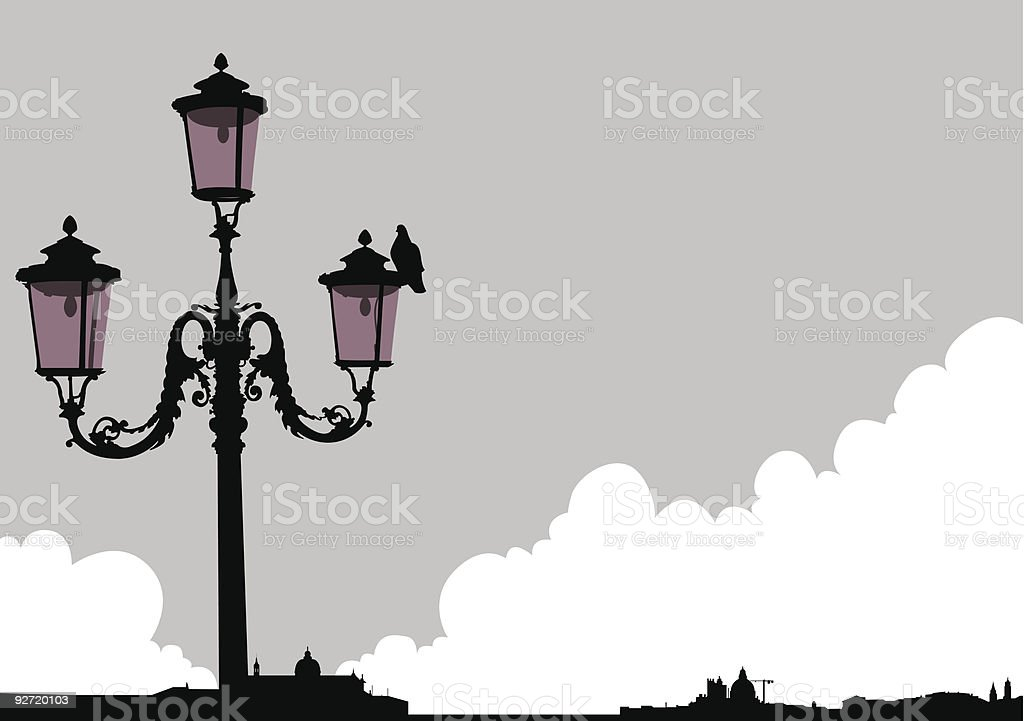 Venice streetlight royalty-free stock vector art