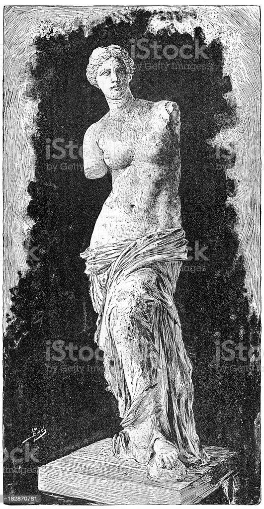 Venus de Milo royalty-free stock vector art