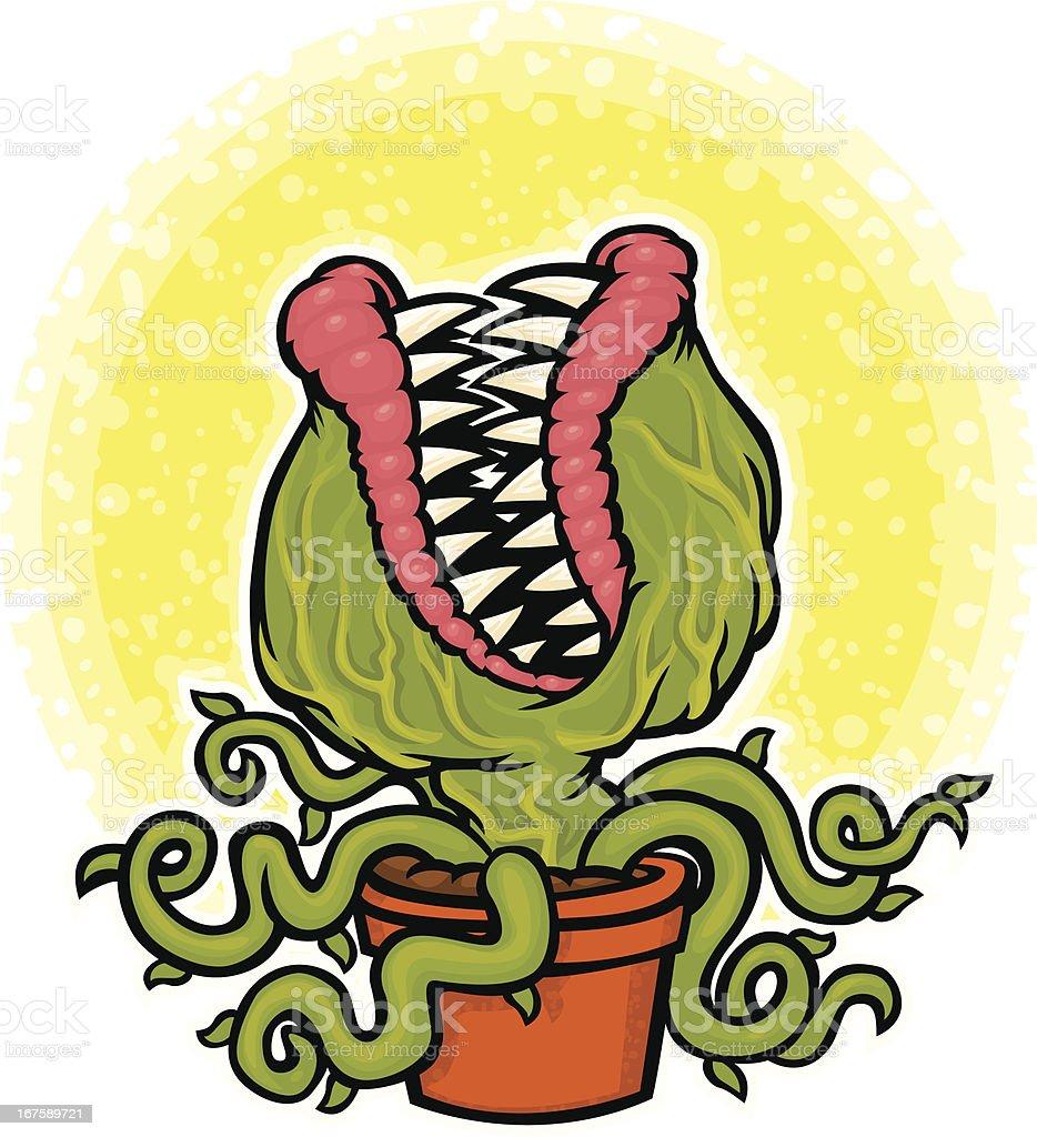 venus flytrap monster vector art illustration