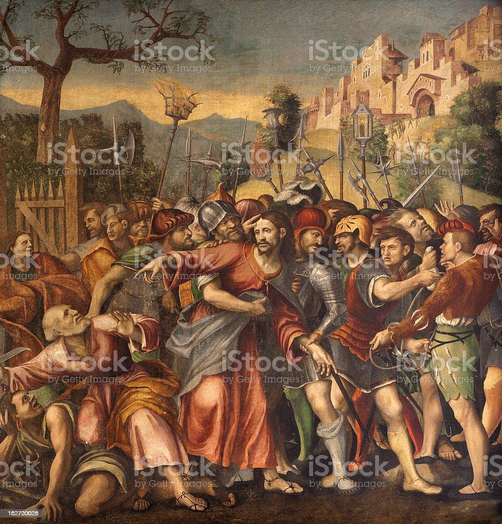 Verona - Captivity of Christ  in San Bernardino church vector art illustration