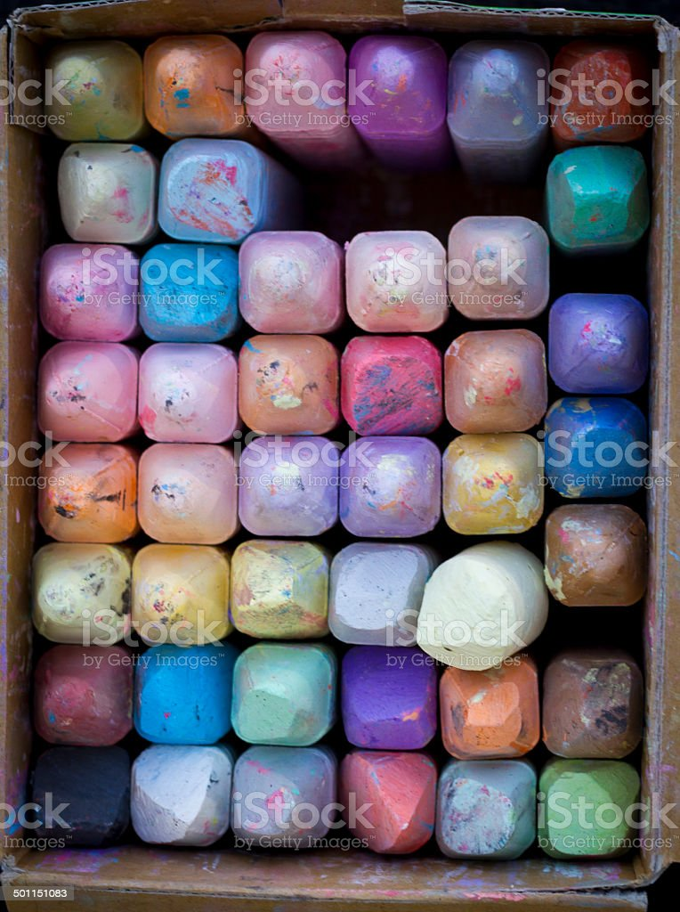 Vertical Colors of Chalk vector art illustration