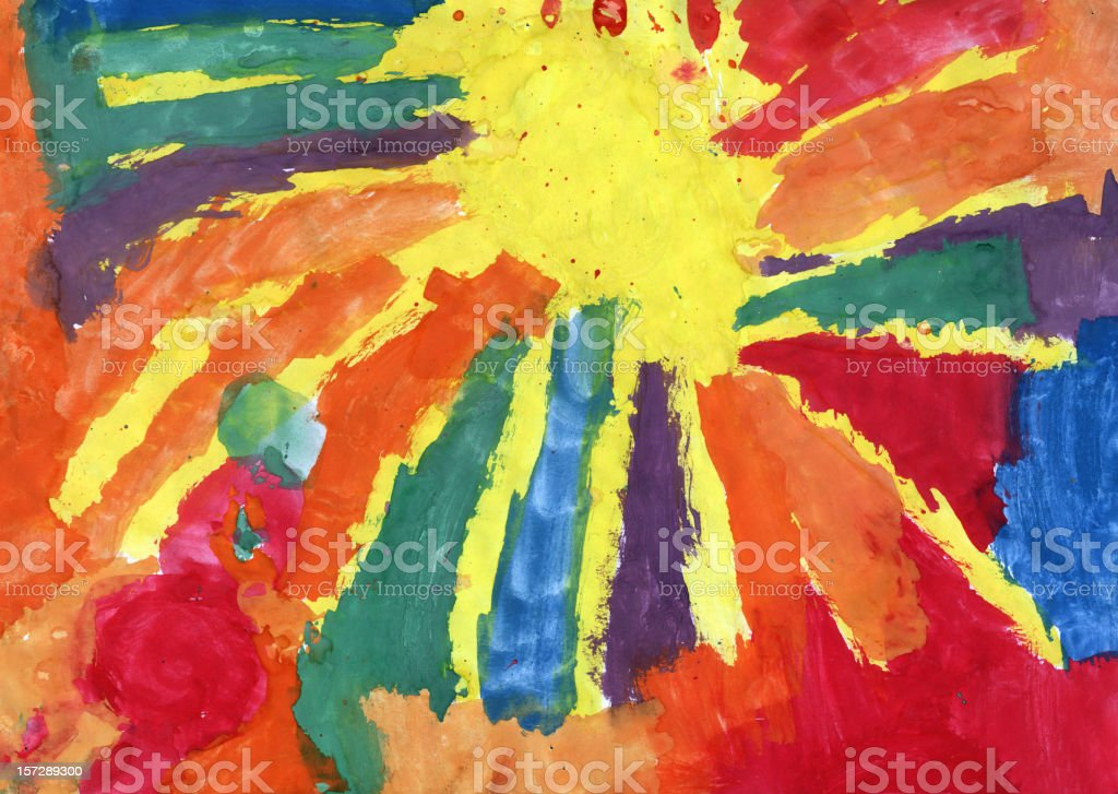 Very colorful children's painting vector art illustration