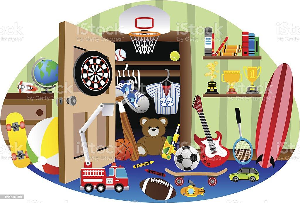 kids bedroom clip art, vector images & illustrations - istock