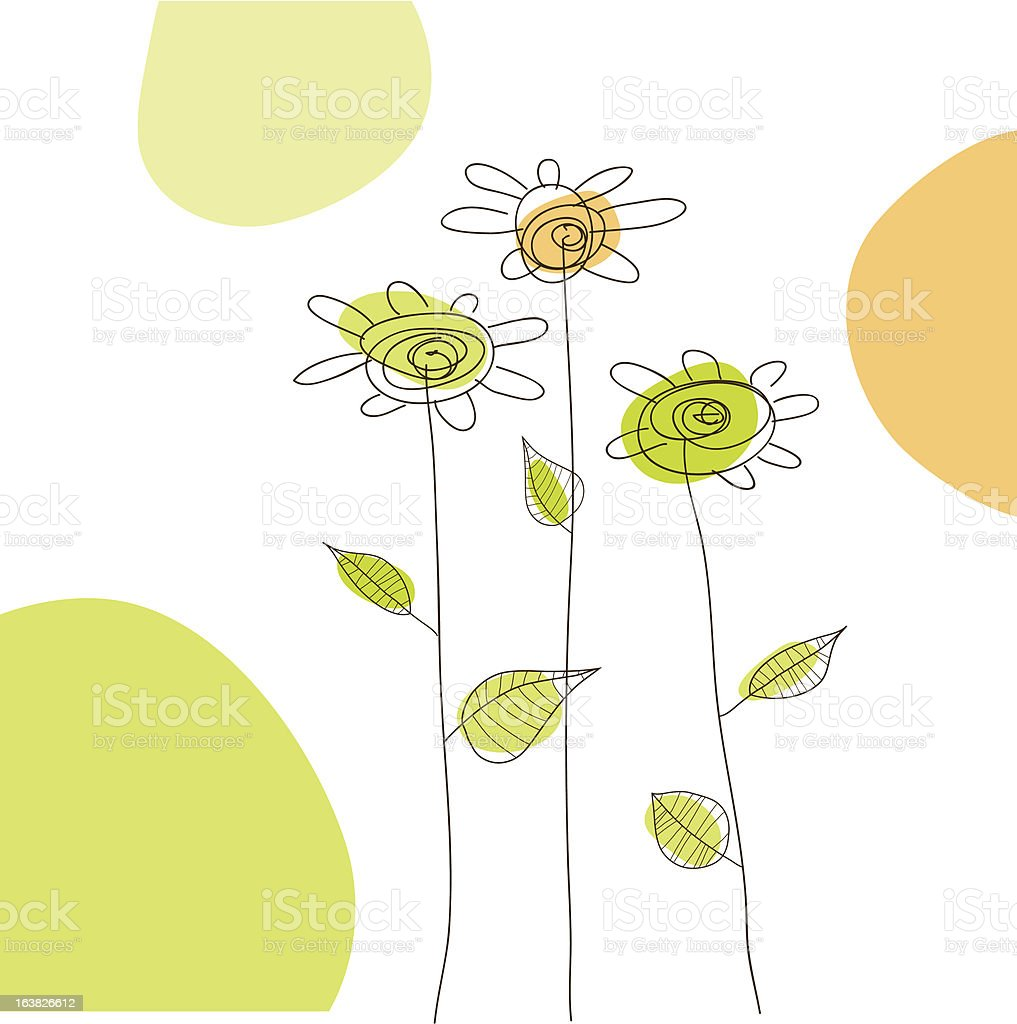 Very Simple flowers royalty-free stock vector art