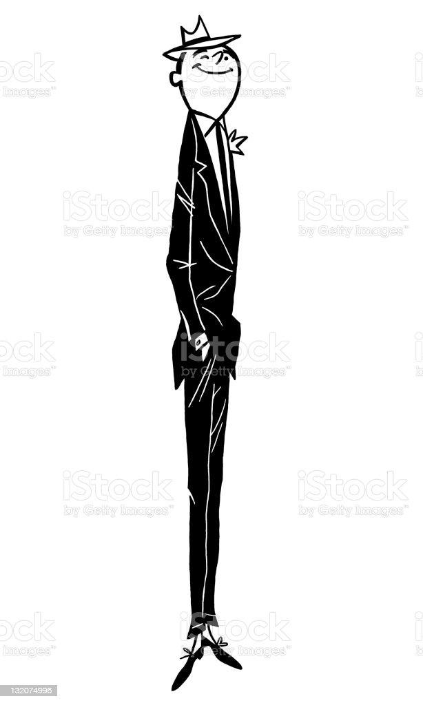 Very Tall Skinny Man royalty-free stock vector art