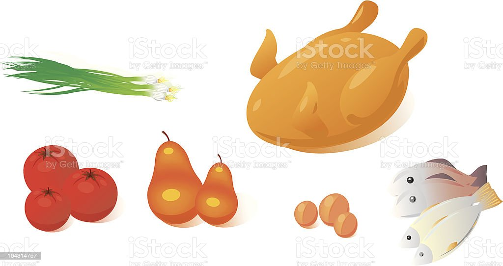 Very tasty food royalty-free stock vector art