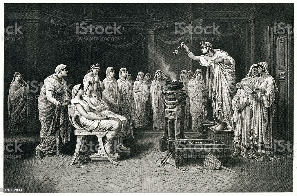 Vestal Virgins royalty-free stock vector art