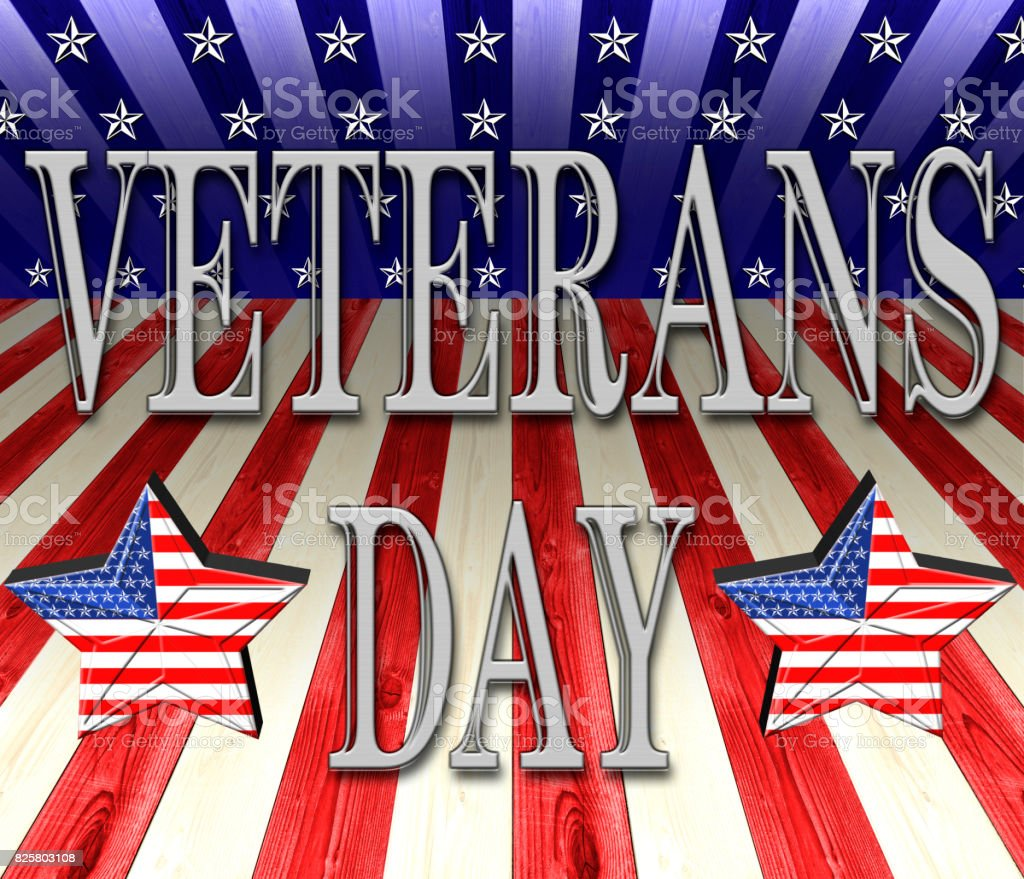 Veterans Day, USA white, red, and blue stripes, with geometric line for background, white stars perpective. vector art illustration