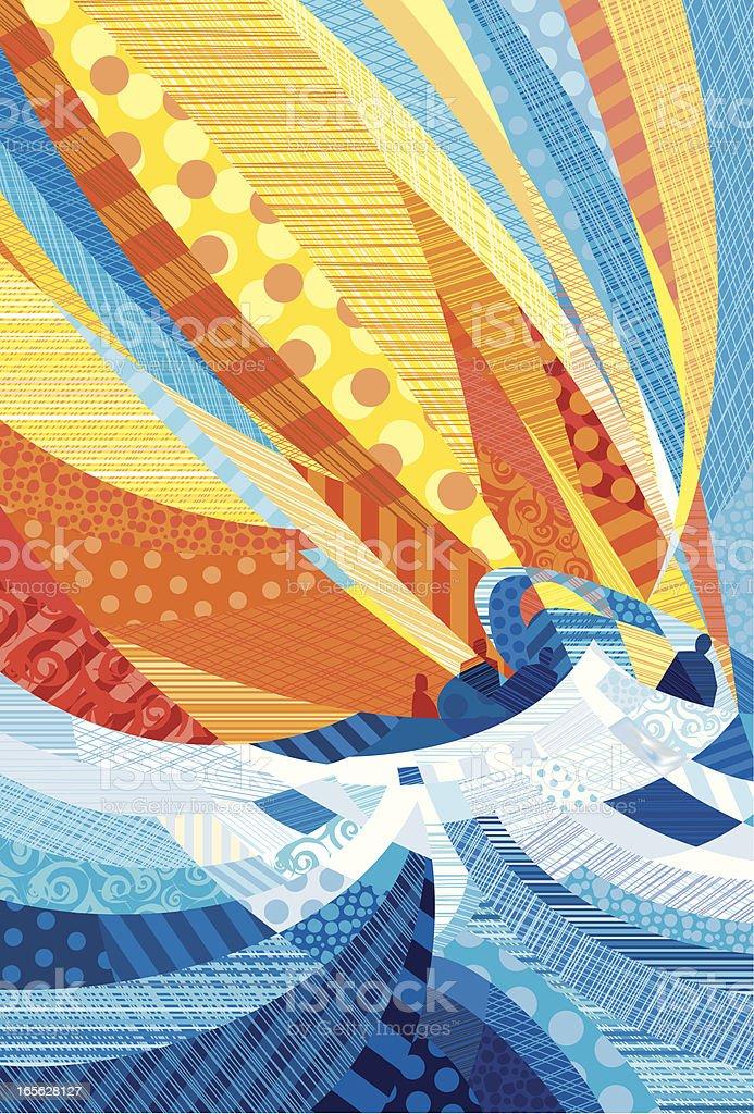 Vexed Sea vector art illustration