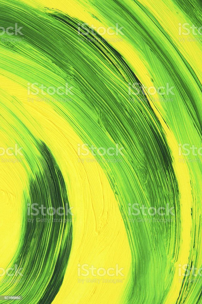Vibrant oil-painted abstract curves royalty-free stock vector art