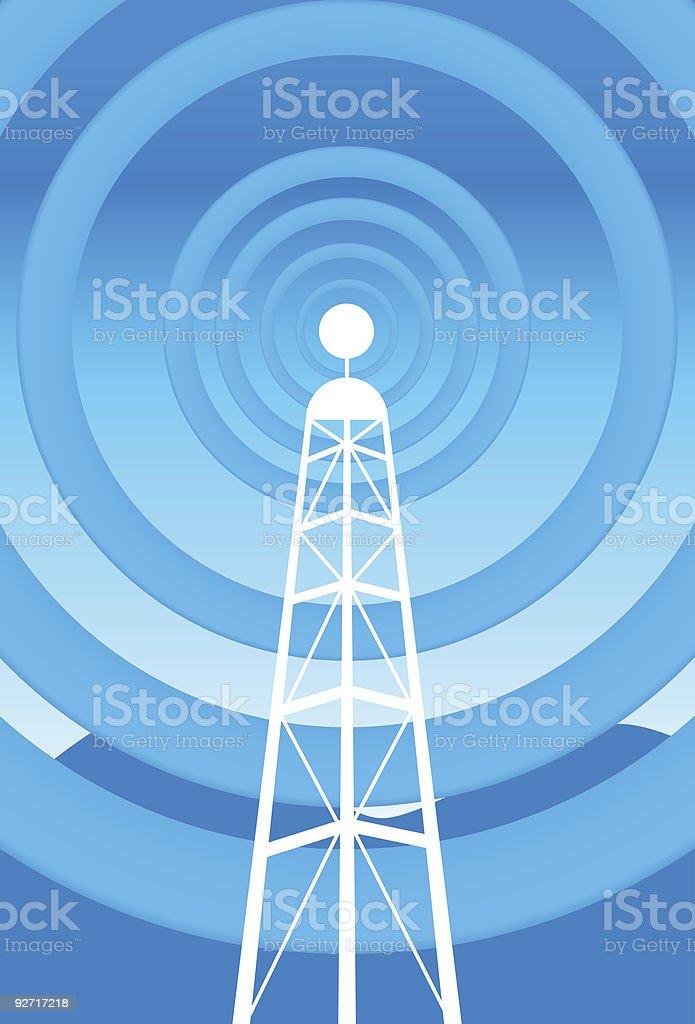 Vibrant Radio Tower royalty-free stock vector art