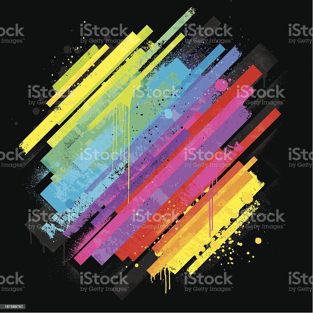 Vibrant rainbow background vector art illustration