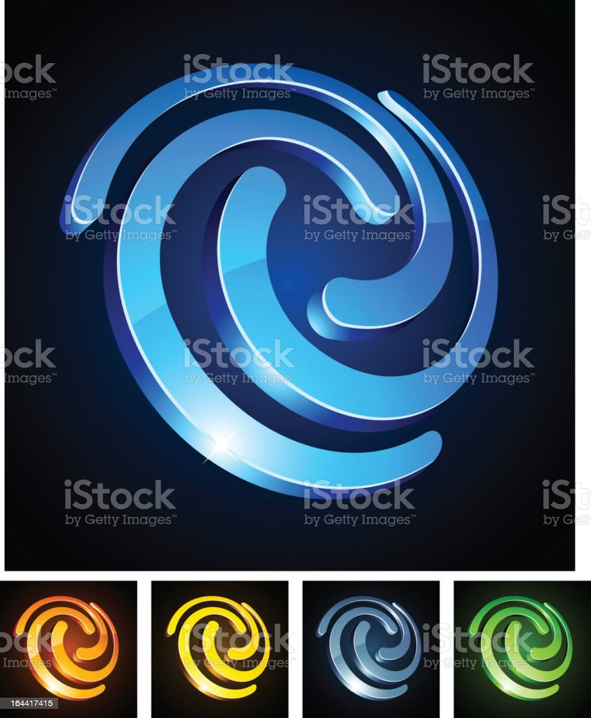 Vibrant swirl emblems. royalty-free stock vector art