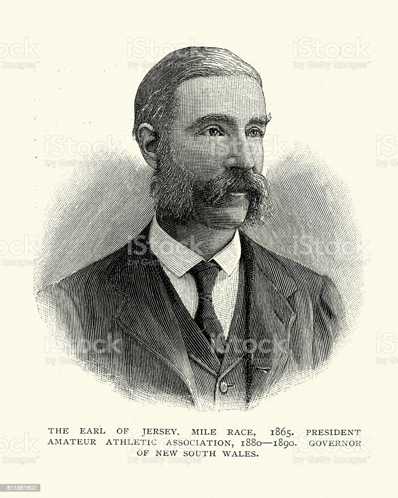 Victor Child Villiers, 7th Earl of Jersey vector art illustration