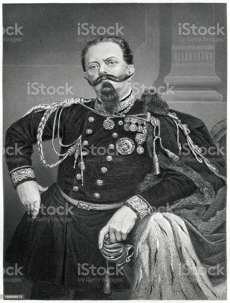 Victor Emmanuel II Of Italy royalty-free stock vector art
