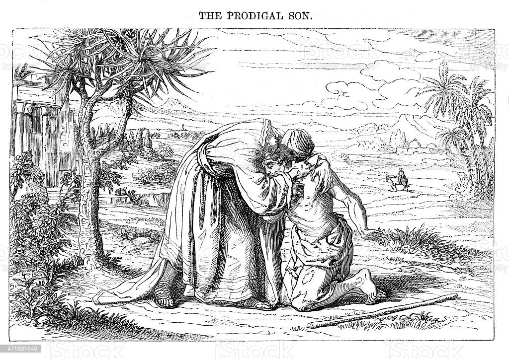 Engraved illustration from \'The Sunday at Home \' February 13th 1864