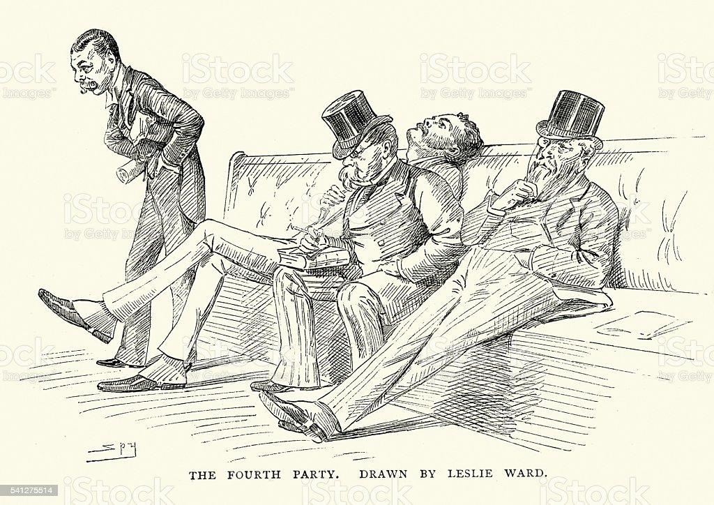 Victorian British MP's vector art illustration