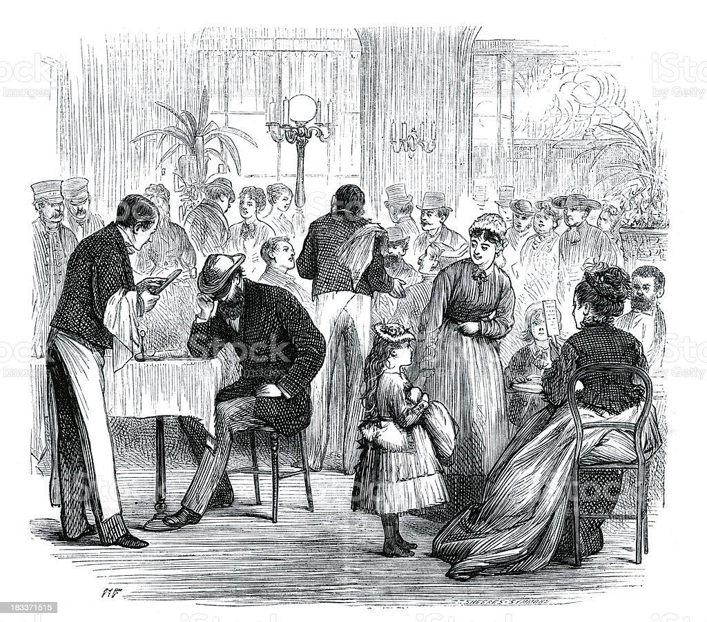 Victorian Cafe Restaurant royalty-free stock vector art