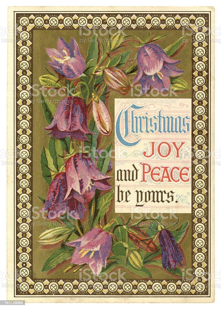 Victorian Christmas card, 1879 royalty-free stock vector art