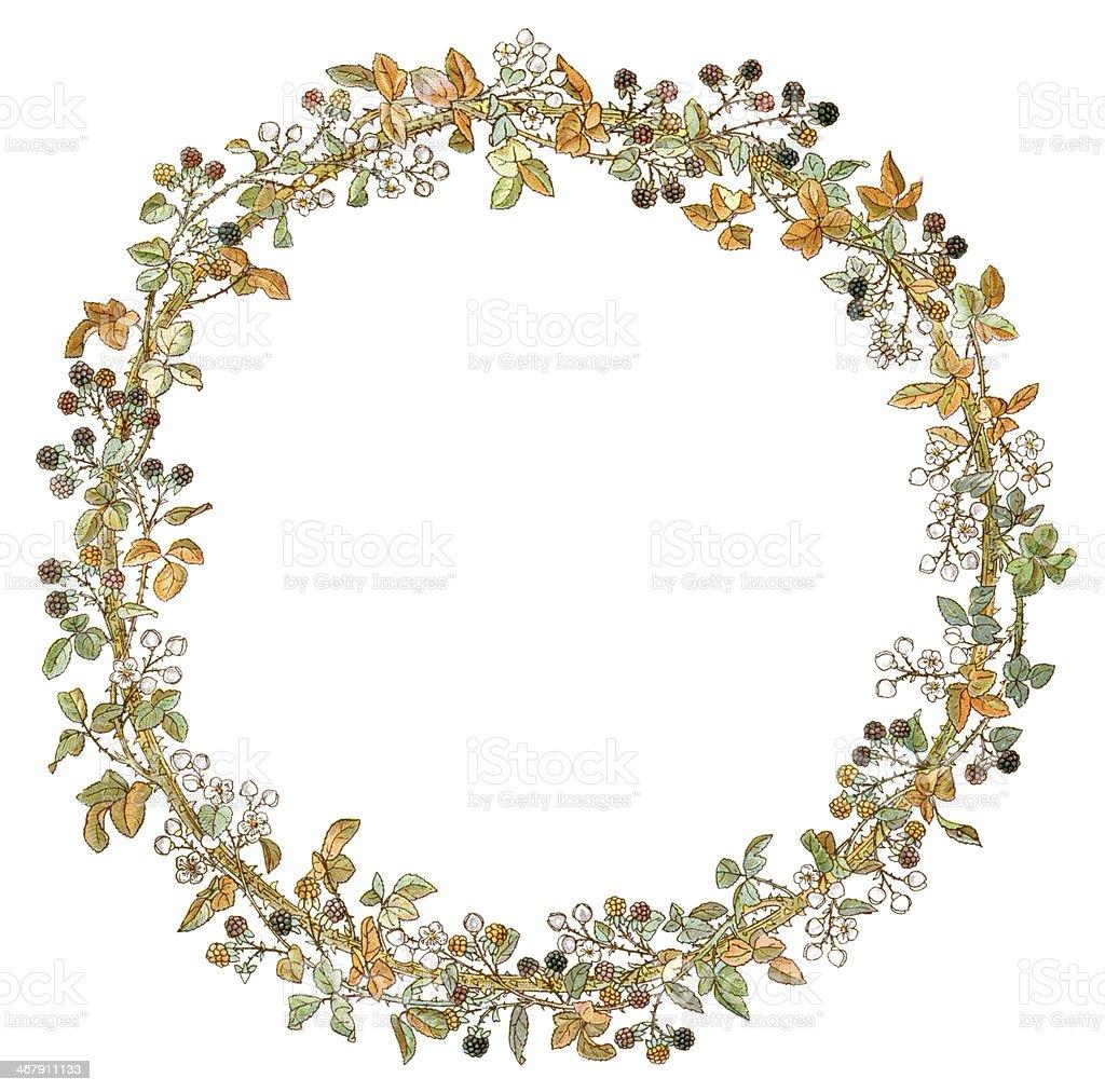 Victorian Circular Autumn Border stock vector art ...