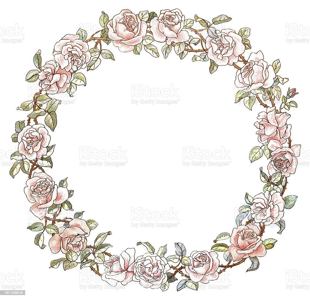 Victorian Circular Rose Border stock vector art 467456049 ...