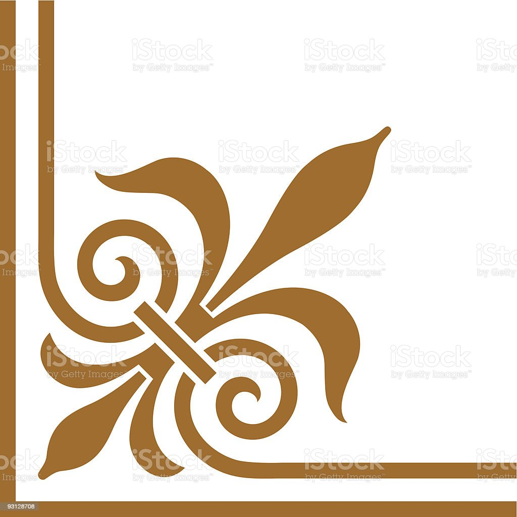 Victorian Corner1 royalty-free stock vector art