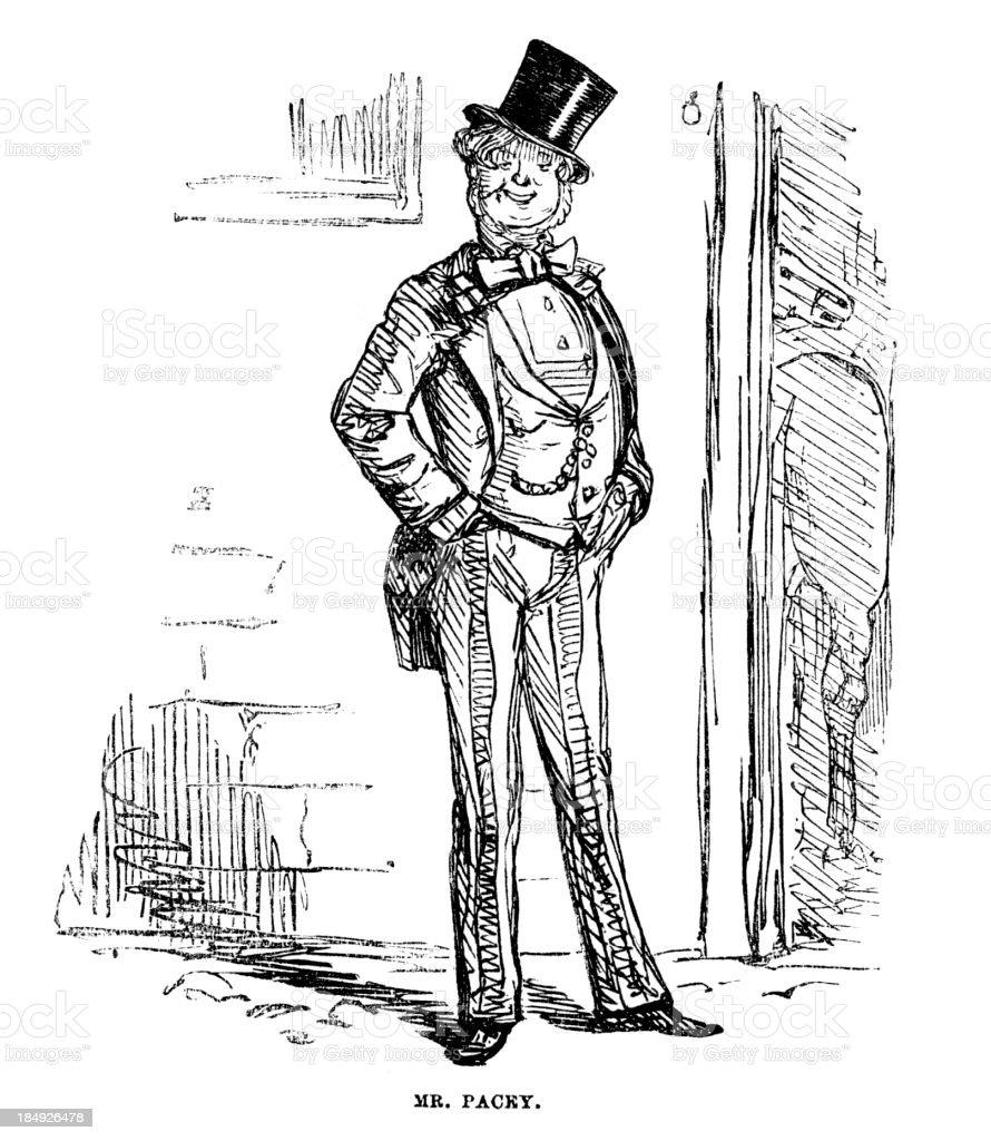 Victorian Dandy vector art illustration