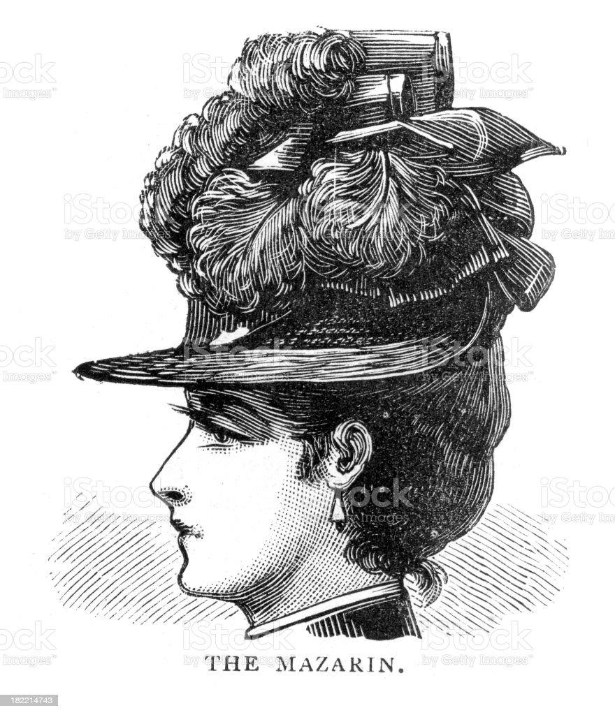 Victorian Fashion Hat royalty-free stock vector art