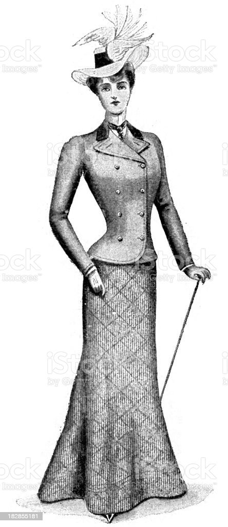 Victorian Fashion vector art illustration