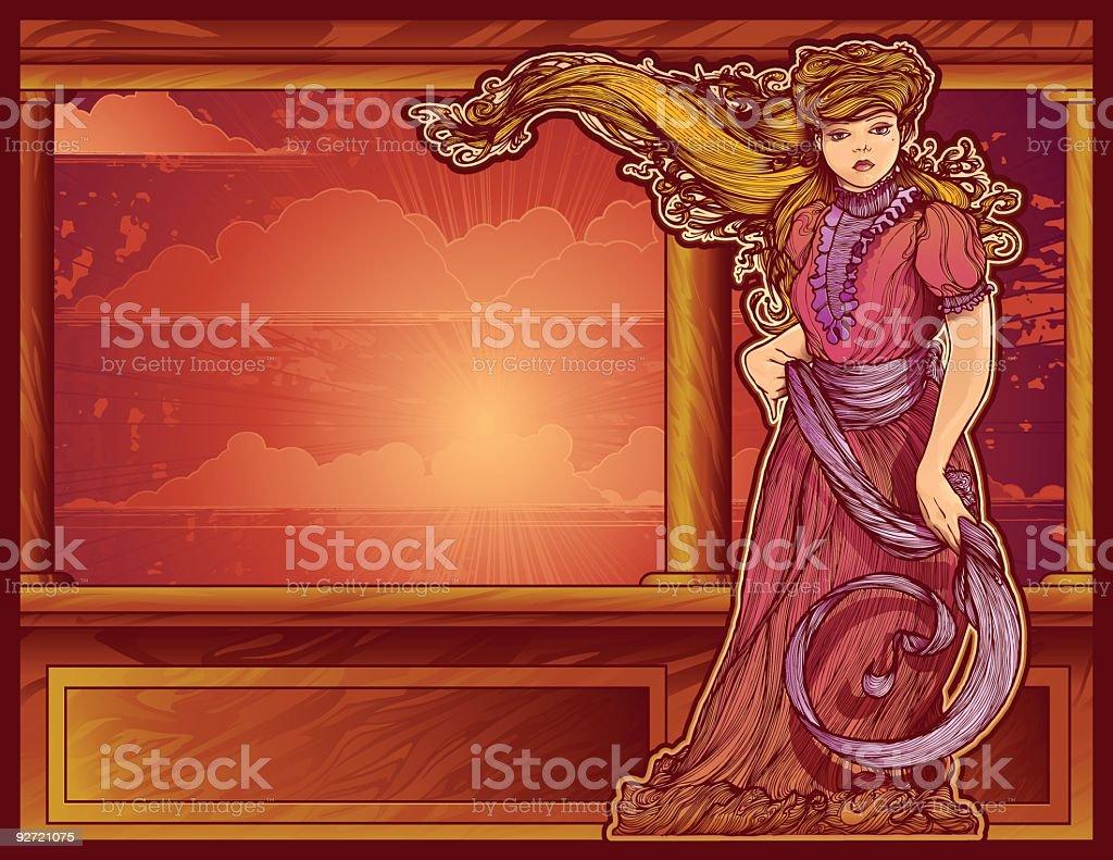 Victorian Flow royalty-free stock vector art