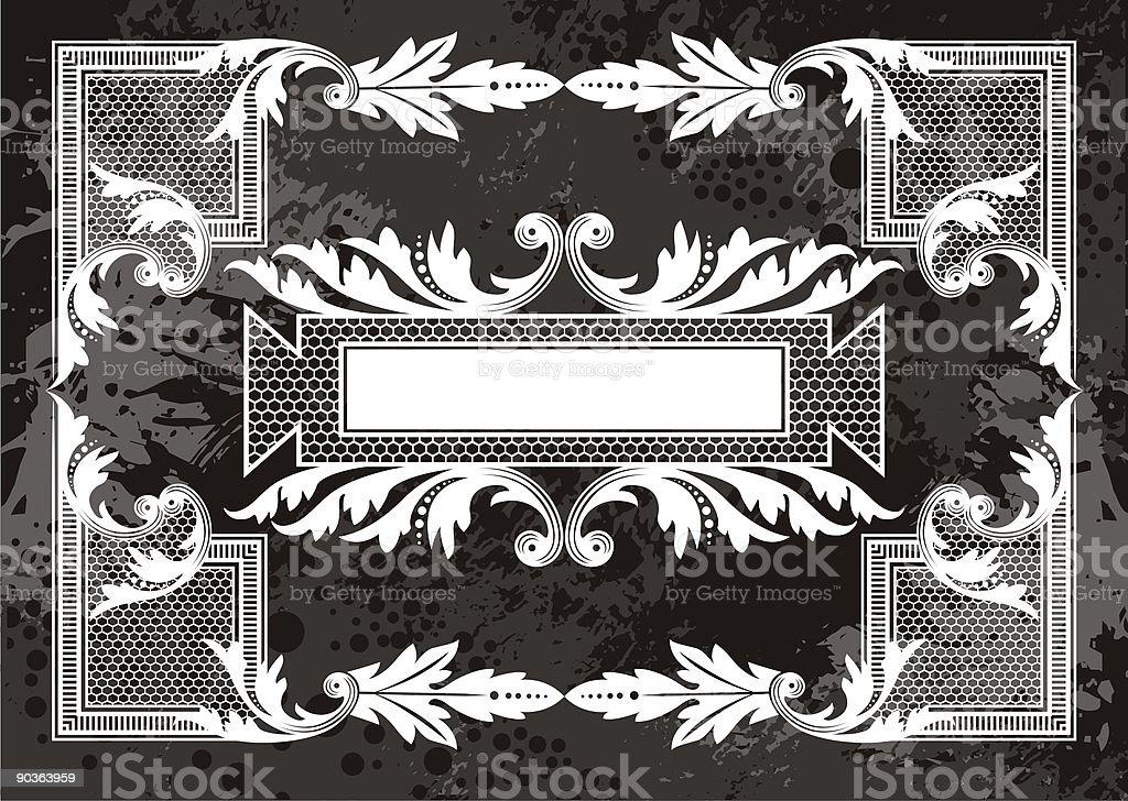 victorian frame royalty-free stock vector art