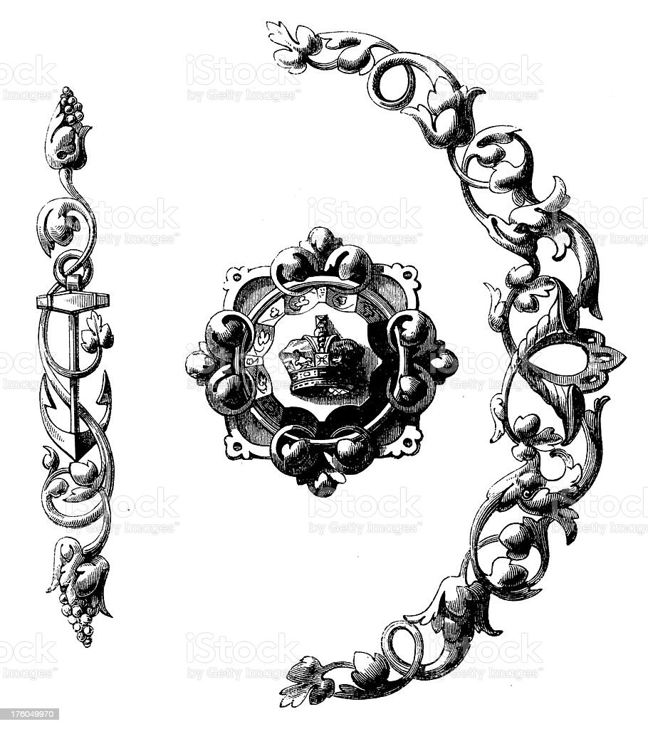 Victorian Jewellery | Antique Design Illustrations royalty-free stock vector art
