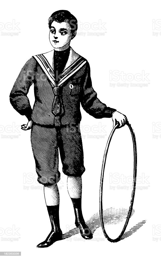 Victorian kid | Antique Design Illustrations vector art illustration