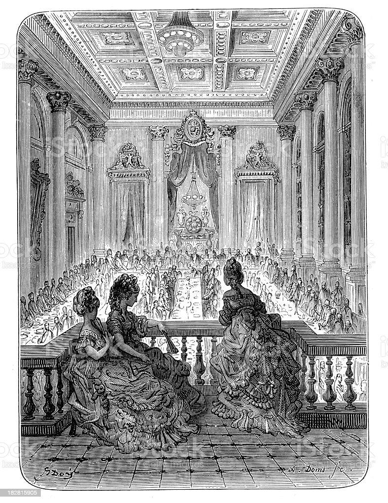 Victorian London - Goldsmiths at Dinner royalty-free stock vector art