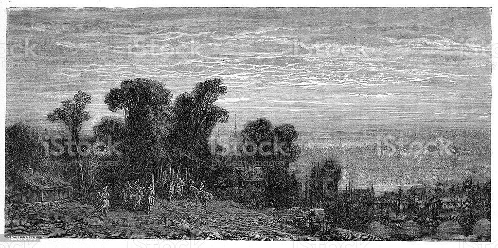 Victorian London - Hampstead Heath royalty-free stock vector art
