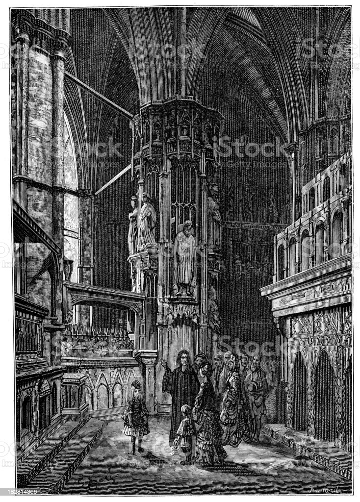 Victorian London - Round of the Abbey royalty-free stock vector art